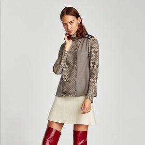 Zara Wool Mini A Line Skirt